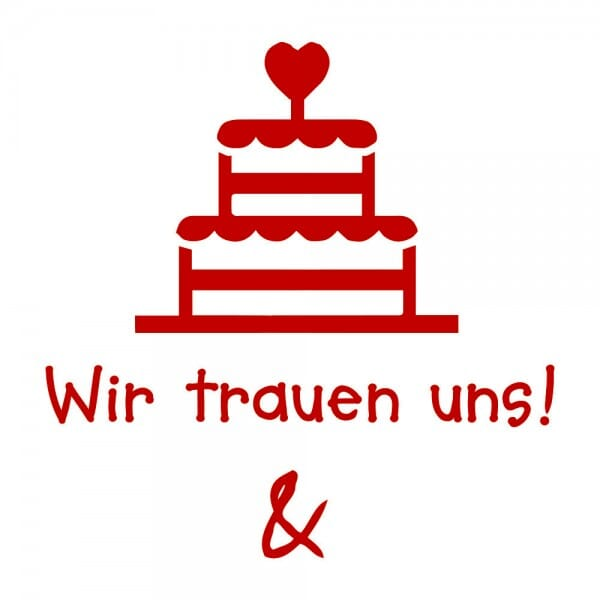 Liebe Holzstempel - Torte (50x50 mm)