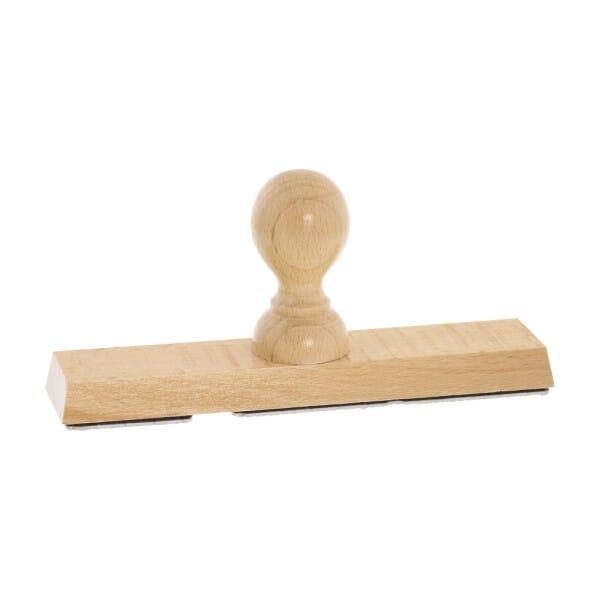 Holzstempel (180x40 mm - 8 Zeilen)