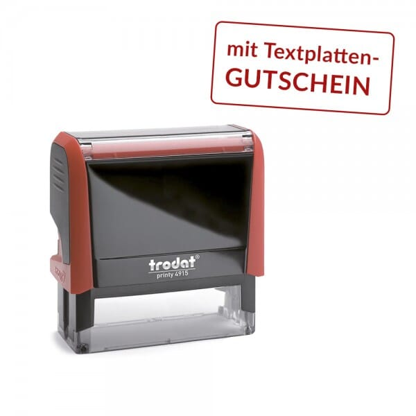 Trodat Printy 4915 mit Textplattengutschein (70x25 mm - 7 Zeilen)