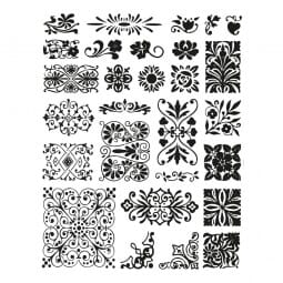 Clearstempel - Set Ornamente