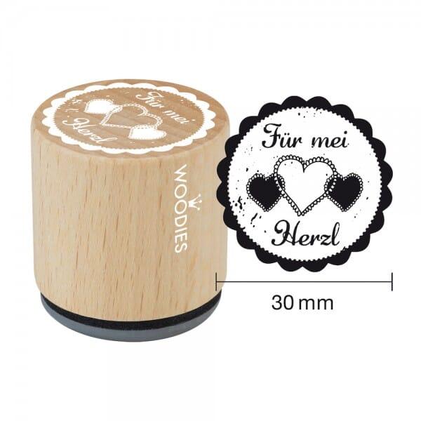 Woodies Stempel - Für mei Herzl