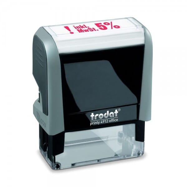 "Trodat Office Printy Textstempel ""inkl. 5% MwSt."" 4912 (47x18 mm)"