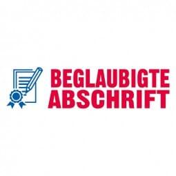 """Trodat Office Printy Textstempel """"Begl. Abschrift"""" 4912 (47x18 mm)"""