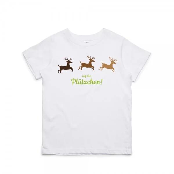 """Kinder T- Shirt """"Auf die Plätzchen"""""""