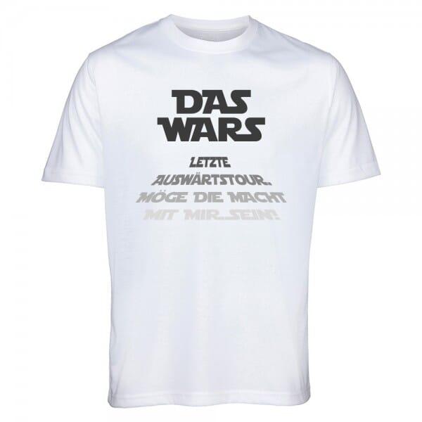 """T- Shirt Standard Junggesellenabschied """"DAS WARS - Bräutigam"""""""
